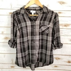 Style & Co | Flannel blouse